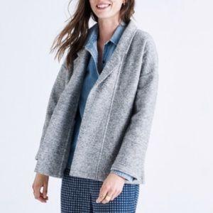 NWOT Madewell grey wool blazer coat